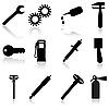 Set von Icons für Auto-Service