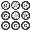 ID 3100297 | Aluminiowe felgi samochodowe | Klipart wektorowy | KLIPARTO