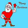圣诞老人健美 | 向量插图