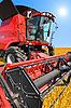 ID 3101266 | Kombajn na polu pszenicy z nieba | Foto stockowe wysokiej rozdzielczości | KLIPARTO