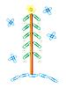 ID 3101297 | Weihnachtsbaum von Büroklammern | Foto mit hoher Auflösung | CLIPARTO