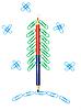 圣诞树回形针 | 免版税照片