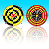 Targets for practical pistol shooting | Stock Vector Graphics