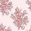 Vektor Cliparts: Nahtloser Hintergrund mit Rosen.
