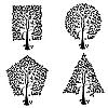 Bäume unterschiedlichen geometrischen Formen.