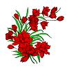 ID 3250438 | Bukiet kwiatów, malowane ręcznie. | Klipart wektorowy | KLIPARTO
