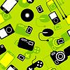 Nahtlose Hintergrund Icon mit elektronischen Gadgets