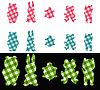 ID 3089200 | Ärmelstreifen in Form von Tieren | Stock Vektorgrafik | CLIPARTO
