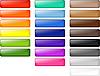 Farbige glänzenden Web-Tasten