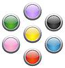 Farbige glänzende Buttons