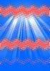 Streszczenie wielokolorowe tech tło faliste | Stock Illustration