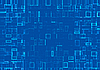 Abstract background of mosaic blue tiles | Stock Illustration
