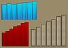 3 histogramy przedstawiające podnoszenie | Stock Illustration