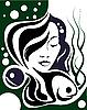 Dziewczyna z perłami | Stock Vector Graphics