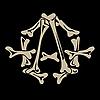 뼈의 무정부 상징 | Stock Vector Graphics