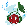 Cherry music | Stock Vector Graphics