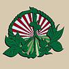 평화 기호 - 녹색 나뭇잎과 햇빛 | Stock Vector Graphics