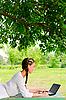 ID 3078981 | Junge schöne Frau mit Notebook | Foto mit hoher Auflösung | CLIPARTO
