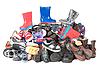 Dzieci buty Pile | Stock Foto