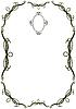 Rahmen mit kalligraphischen Design-Elementen