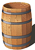 Деревянная бочка | Векторный клипарт