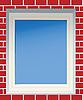 Fenster in roter Ziegelmauer