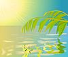 Vektor Cliparts: Landschaft mit Wasser.