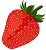 Reife rote Erdbeere