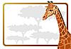 Векторный клипарт: рамка с жирафом
