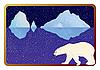 Eisbär und Eisberge