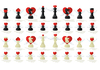 ID 3083753 | Liebes-Schach | Stock Vektorgrafik | CLIPARTO