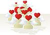 Liebes-Schach - weiße Figuren | Stock Vektrografik