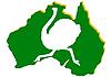Karte von Australien und Strauß | Stock Vektrografik