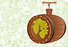 Faß des Weins mit Korkenzieher