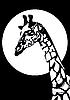 Векторный клипарт: Черно-белый жираф