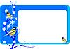 Визитная карточка с синицами | Векторный клипарт