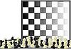 Schach und Schachbrett | Stock Vektrografik