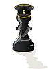 Schwarzer Schach-Läufer Offizier | Stock Vektrografik