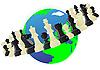 Schach-Orbit | Stock Vektrografik