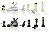 Paramilitärische Schachfiguren | Stock Vektrografik