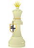 Weiße Schach-Königin | Stock Vektrografik