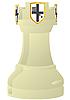 Weißer Schach-Turm | Stock Vektrografik