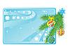 Visitenkarte mit Weihnachtskugeln | Stock Vektrografik