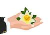 ID 3105490 | Kwiat w dłoni | Klipart wektorowy | KLIPARTO