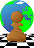 Bauer auf dem Schachbrett | Stock Vektrografik