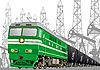 Железнодорожные перевозки нефтепродуктов | Векторный клипарт