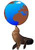 Vektor Cliparts: Seal und die Welt