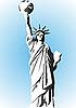 Statue of Liberty und der Planet Erde