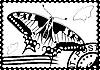 Briefmarke aus Schwalbenschwanz