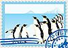 Briefmarke mit Pinguinen